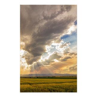 Colorado Big Sky Beams of Sunshine Stationery