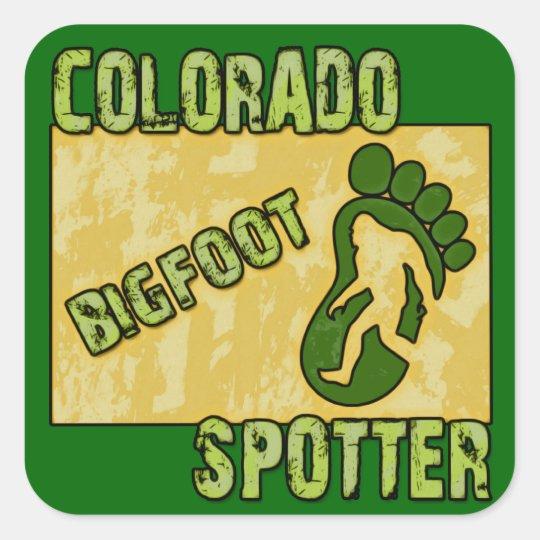 Colorado Bigfoot Spotter Square Sticker
