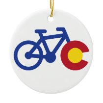 Colorado Bike Ceramic Ornament