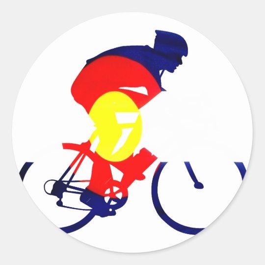 Colorado Biker Classic Round Sticker