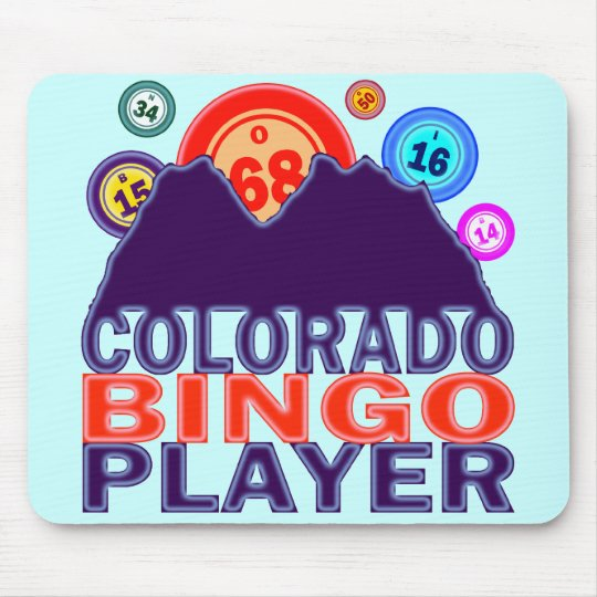 COLORADO BINGO PLAYER MOUSE PAD