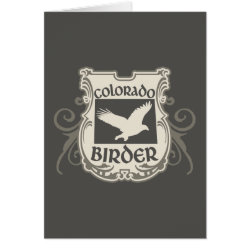 Greeting Card with Colorado Birder design