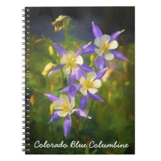 Colorado Blue Columbine Notebook