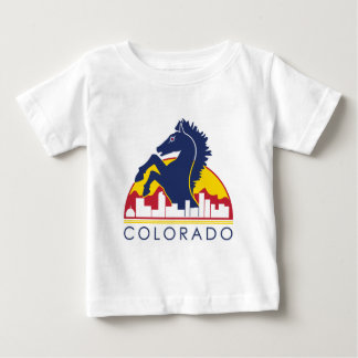 Colorado Blue Horse Baby T-Shirt