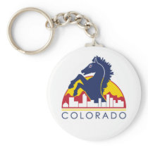 Colorado Blue Horse Keychain