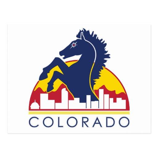 Colorado Blue Horse Postcard