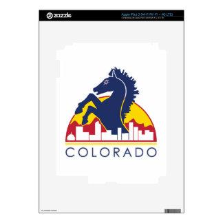 Colorado Blue Horse Decals For iPad 3