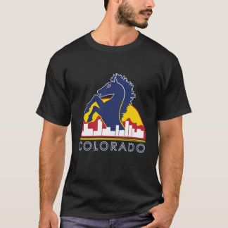 Colorado Blue Horse T-Shirt