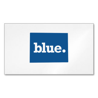 COLORADO BLUE STATE MAGNETIC BUSINESS CARD