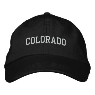 Colorado bordó negro ajustable del casquillo gorra de béisbol