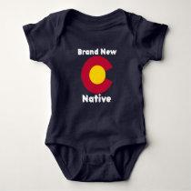 "Colorado ""Brand New Native"" Baby Bodysuit"