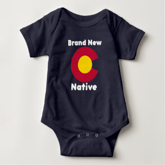 "Colorado ""Brand New Native"" Baby Bodysuit"