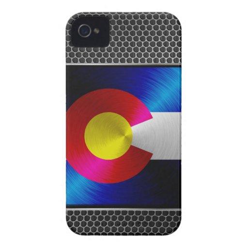 Colorado brushed metal flag iPhone 4 Case-Mate case