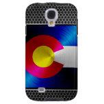 Colorado brushed metal flag galaxy s4 case