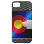 Colorado brushed metal flag iPhone 5 cover