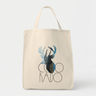 Colorado Buck & Mountain Tote Bag