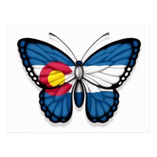 Colorado Butterfly Flag Postcard