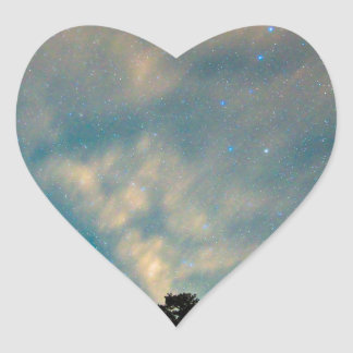 Colorado Canyon Star Gazing Heart Sticker