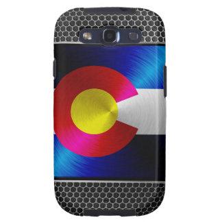 Colorado cepilló la bandera del metal samsung galaxy s3 cárcasas