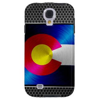 Colorado cepilló la bandera del metal funda para galaxy s4