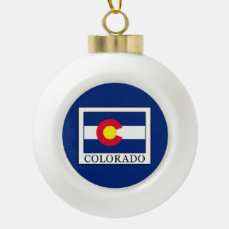 Colorado Ceramic Ball Christmas Ornament