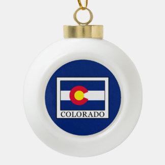 Colorado Ceramic Ball Christmas Ornament