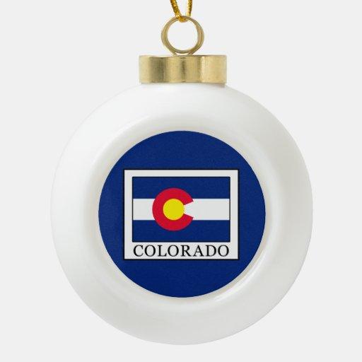 Colorado ceramic ball christmas ornament zazzle