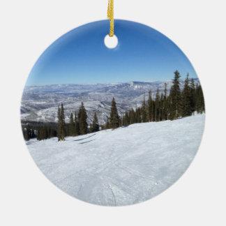 Colorado Christmas Ceramic Ornament