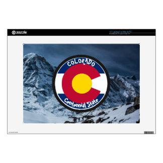 """Colorado Circular Flag Decals For 15"""" Laptops"""