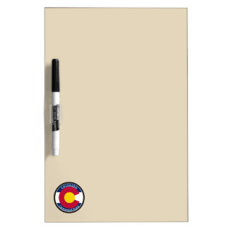 Colorado Circular Flag Dry-Erase Board