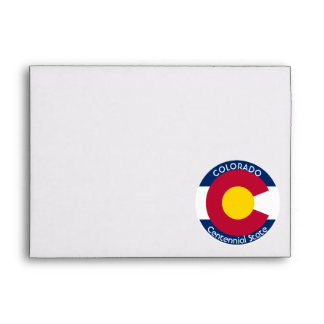 Colorado Circular Flag Envelope