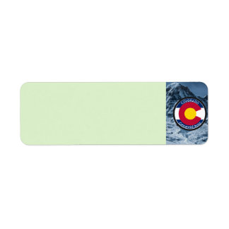 Colorado Circular Flag Label