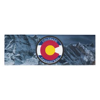 Colorado Circular Flag Name Tag