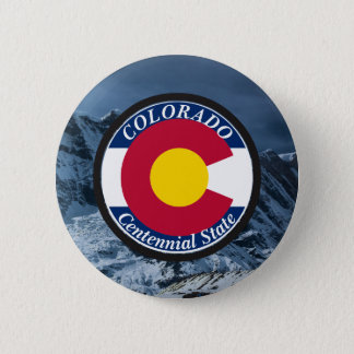 Colorado Circular Flag Pinback Button