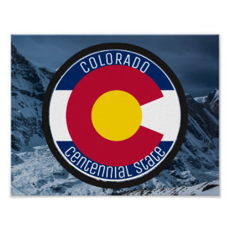 Colorado Circular Flag Poster