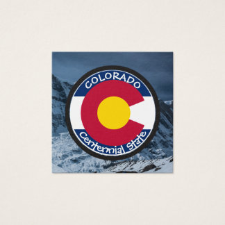 Colorado Circular Flag Square Business Card