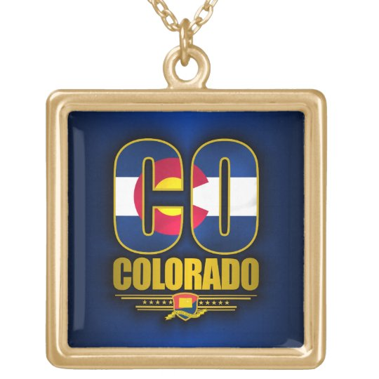 Colorado (CO) Gold Plated Necklace