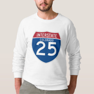 Colorado CO I-25 Interstate Highway Shield - T-shirt