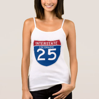 Colorado CO I-25 Interstate Highway Shield - Tank Top