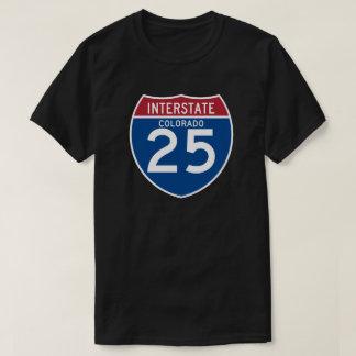 Colorado CO I-25 Interstate Highway Shield - Tee Shirts
