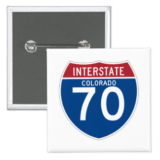 Colorado CO I-70 Interstate Highway Shield - Pinback Button