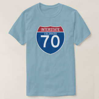 Colorado CO I-70 Interstate Highway Shield - T-Shirt