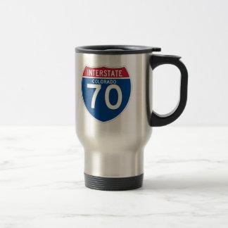 Colorado CO I-70 Interstate Highway Shield - Travel Mug