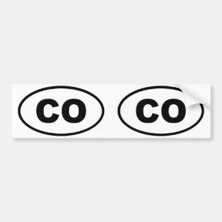 Colorado CO oval Bumper Stickers