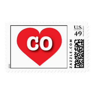 Colorado CO red heart Postage Stamp