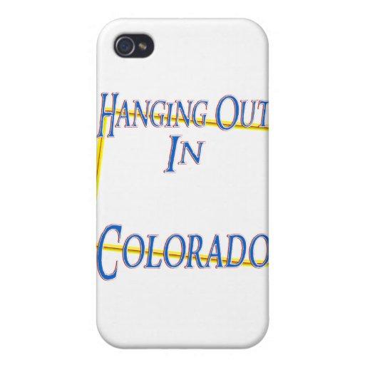 Colorado - colgando hacia fuera iPhone 4/4S carcasas