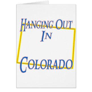 Colorado - colgando hacia fuera felicitaciones