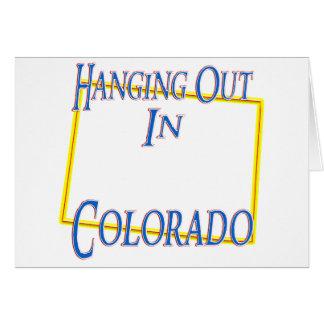 Colorado - colgando hacia fuera tarjetón