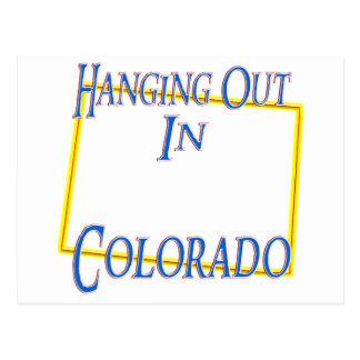 Colorado - colgando hacia fuera postal