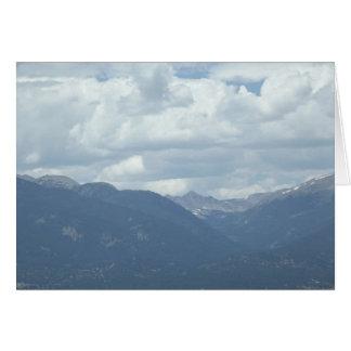 Colorado Collegiate Peaks under cloudy skies Card